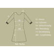 Virág mintás Fransa ruha (Méret: M)