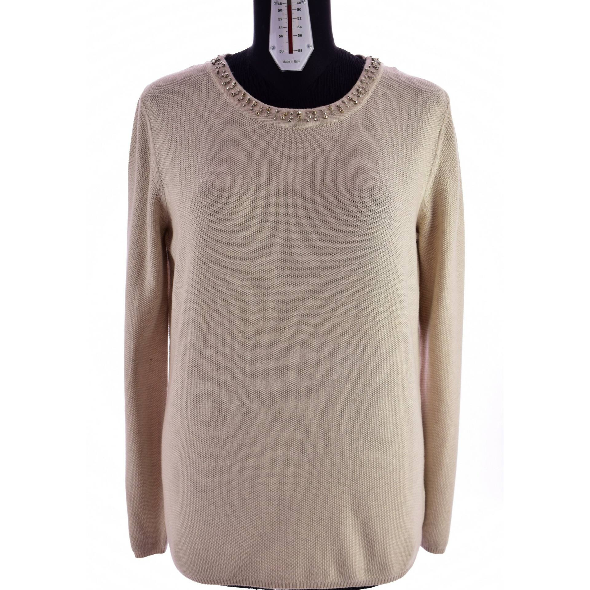 Nyak részén kövekkel díszített C A pulóver (Méret  L) - Női pulóver ... 5c286659ca