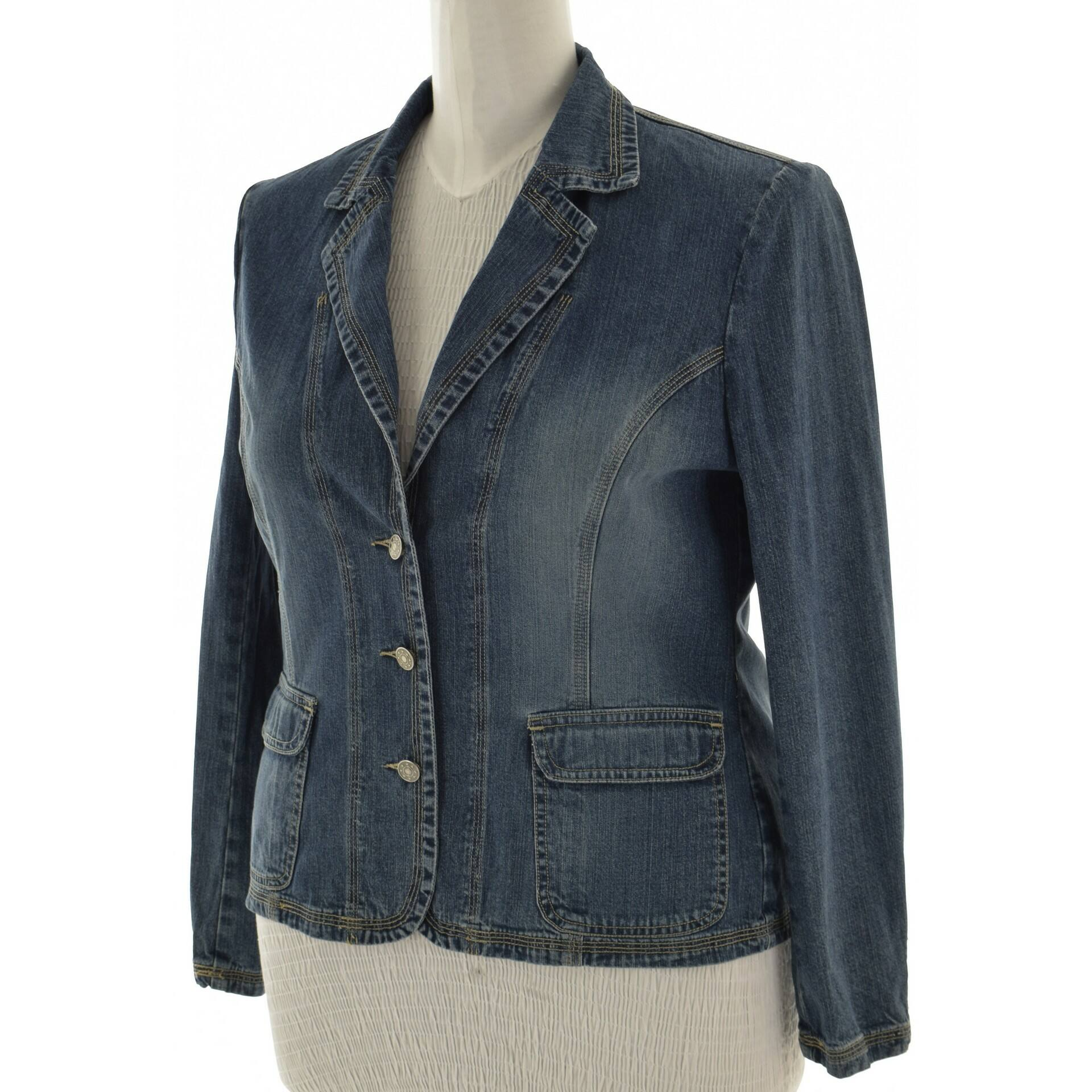 3aa2fd23ba MISS ETAM kék színű farmer kabát (Méret: L) - Női dzseki, kabát ...