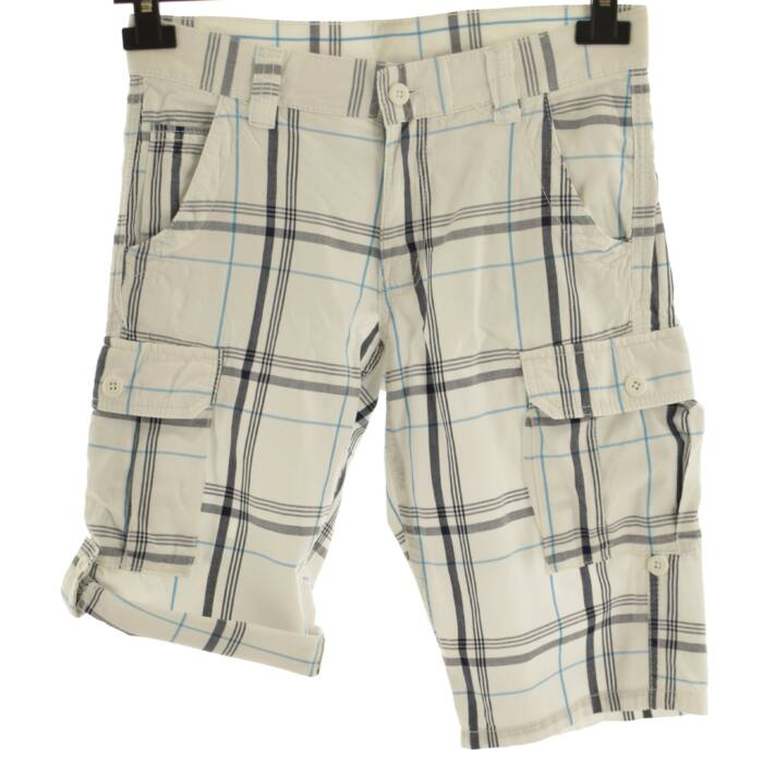 25e10fd8c0 THERE + HERE fehér-kék kockás rövid nadrág (Méret: 12év (152)