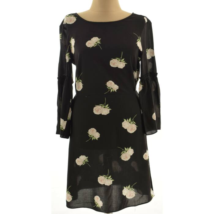 a233bb2f6b GEORGE fekete virágos ruha (Méret: S) - Alkalmi ruha, kosztüm - Öltözz ki  webáruház - Új és Használtruha webshop